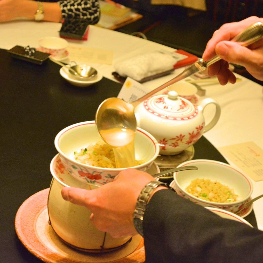 海鮮入り上湯スープかけチャーハン