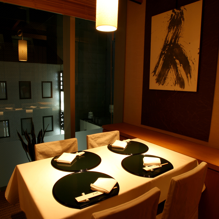 銀座の夜景を楽しむことができる個室